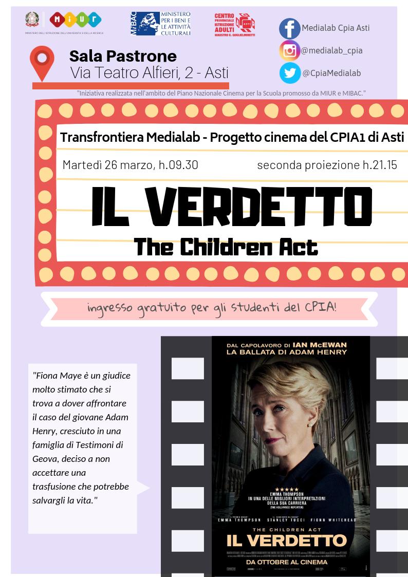Progetto Cinema CPIA – Proiezione 26 marzo