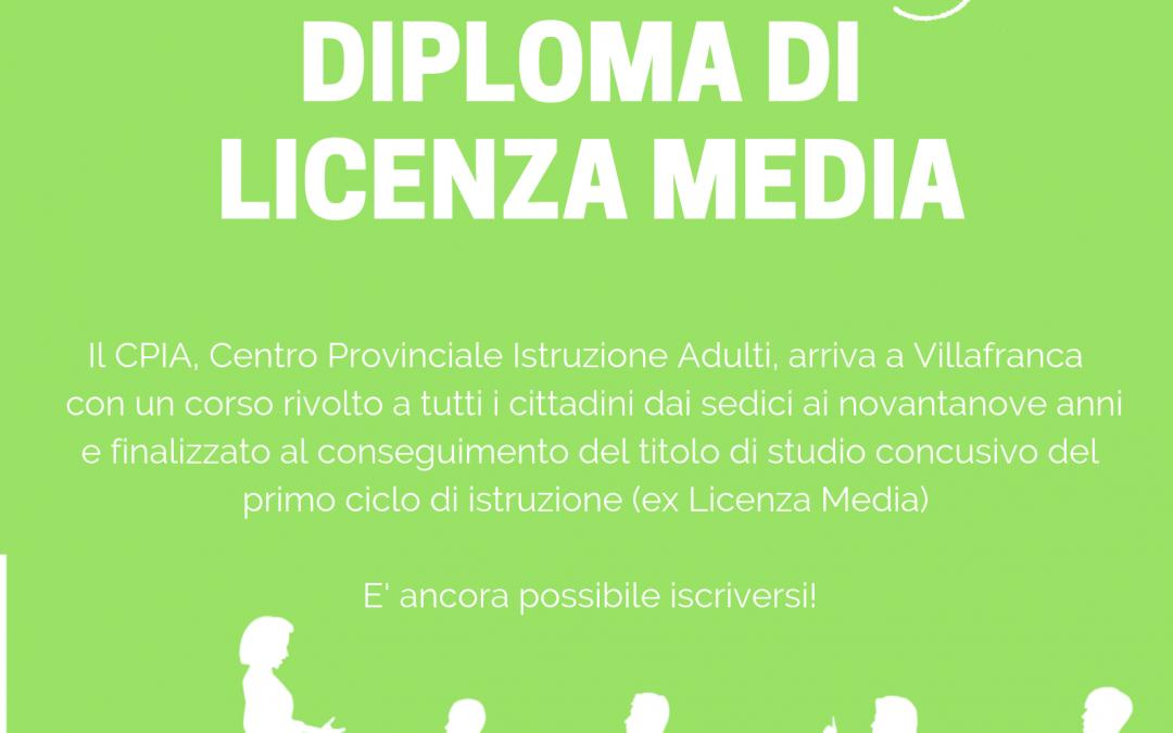 Nuovo corso di Licenza Media a Villafranca