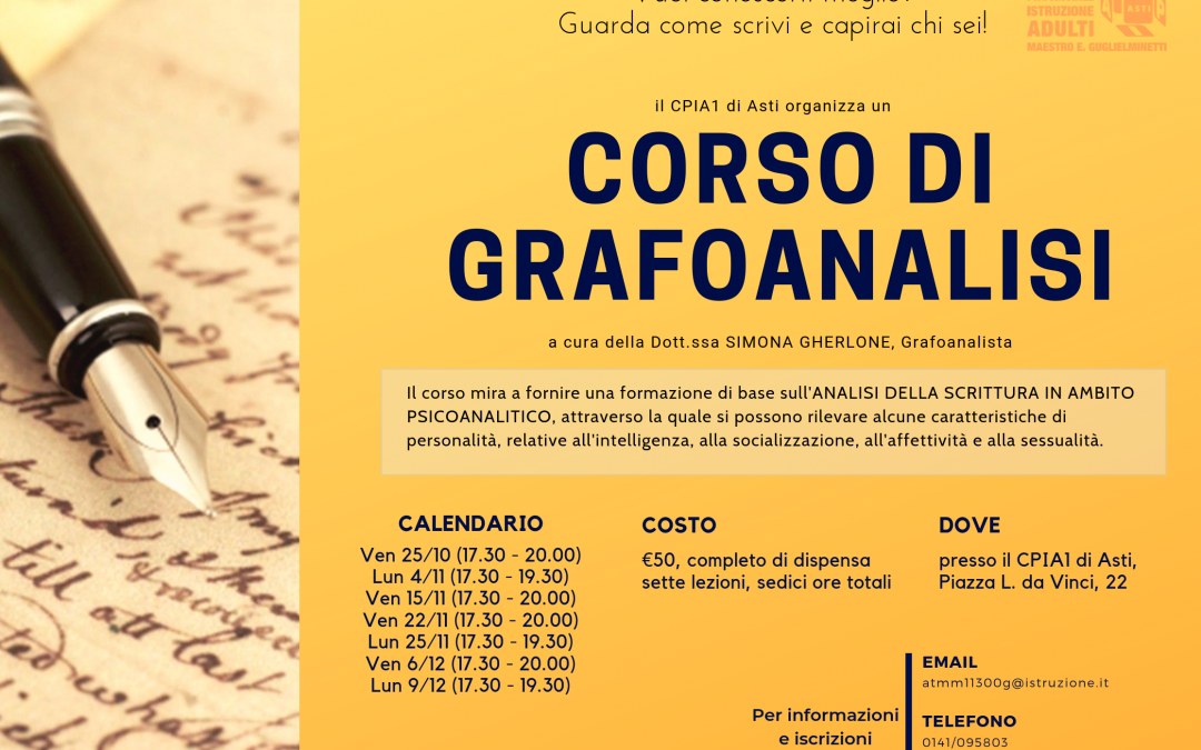 Corso di Grafoanalisi – II edizione