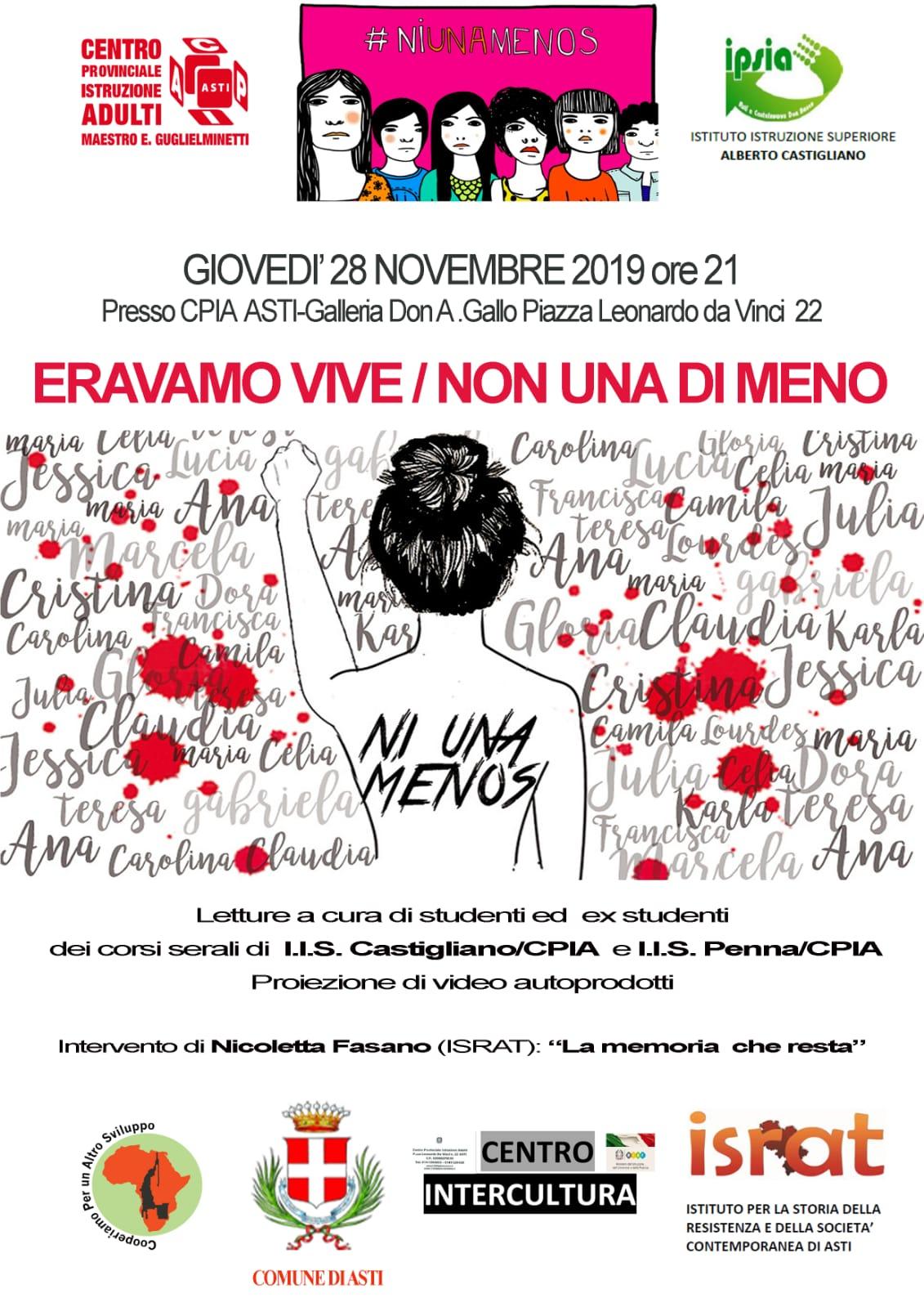 Non Una di Meno – Giovedì 28 novembre