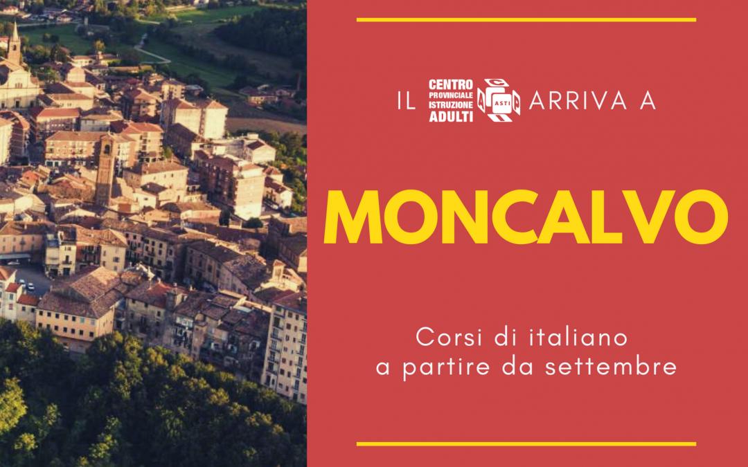 Corsi di italiano a Moncalvo a partire da settembre 2021
