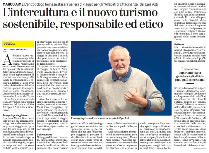 Rassegna stampa – L'intercultura e il nuovo turismo sostenibile, responsabile ed etico