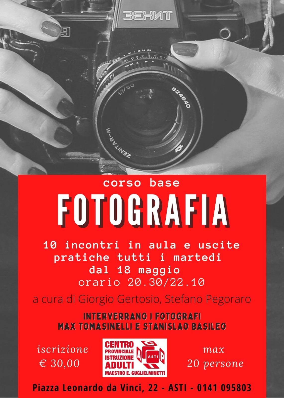 Corso di fotografia – sede di Asti